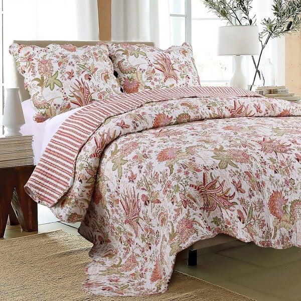 Flowers in Paradise 2-piece Twin Quilt Set