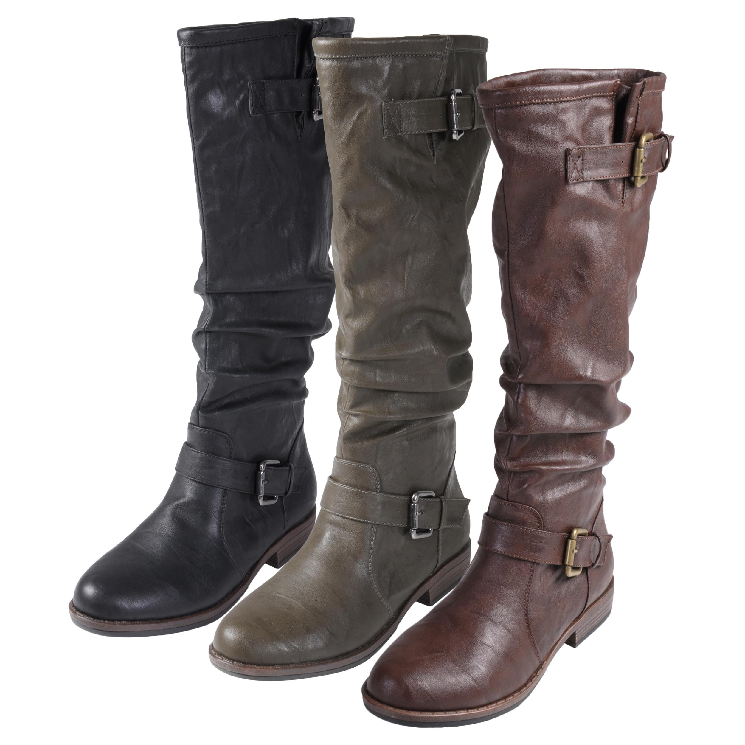Journee Collection Women's 'Prince-41' Buckle Accent Tall Boot ...