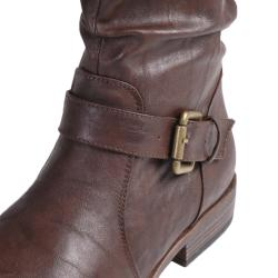 Journee Collection Women's 'Prince-41' Buckle Accent Tall Boot