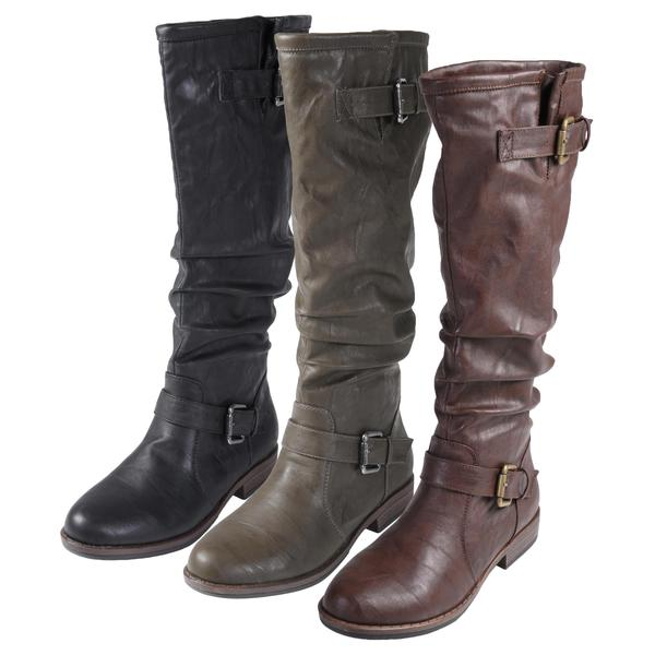 95bd19023dd13 Shop Journee Collection Women's 'Prince-41' Buckle Accent Tall Boot ...