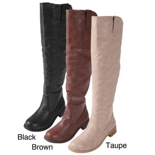 Journee Collection Women's 'Nephi-06' Faux Leather Knee-high Boots