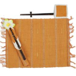 Cotton Table Mats, Coasters and Chopsticks Set (Indonesia)