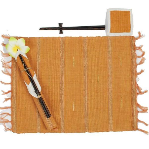 Handmade Cotton Table Mats, Coasters and Chopsticks Set (Indonesia)