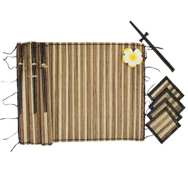 Bamboo Table Mats, Coasters and Chopsticks Set (Indonesia)