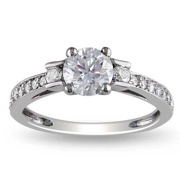 Miadora Signature Collection 14k White Gold 1ct TDW Diamond Engagement Ring (G-H, I1-I2)