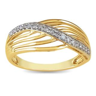 Miadora 10k Yellow Gold 1/6ct TDW Diamond Ring
