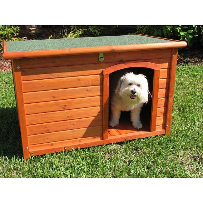 Crown Pet Products Medium Cedar Slant Roof Pet House