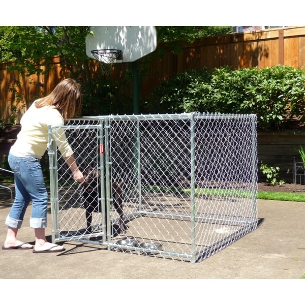 Lucky Dog Champion Box Galvanized Chain-link Box Kennel (4' x 5' x 5')