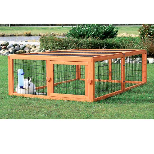 Trixie Outdoor Run with Cover (M) (glazed pine, powder-co...