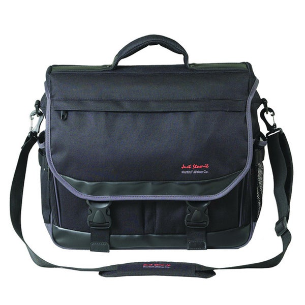 Martin Just Stow-It Black Ultimate Messenger Bag