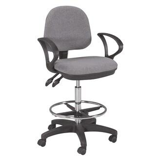 Martin Universal Design Vesuvio Grey Ergonomic Drafting Height Chair with Foot Ring