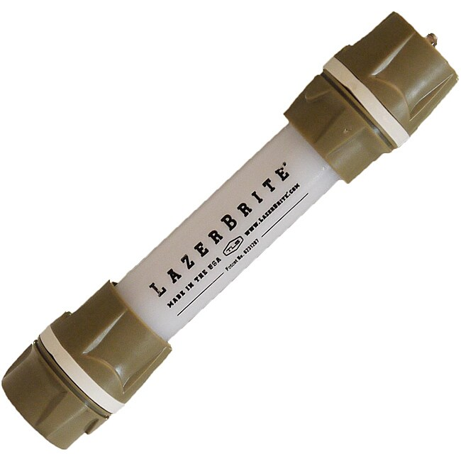 Lazerbrite White and White Single-mode Six-inch Flashlight/Chem Light
