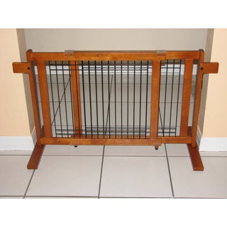 Crown Pet Chestnut Brown Wood Wire Small Span Gate