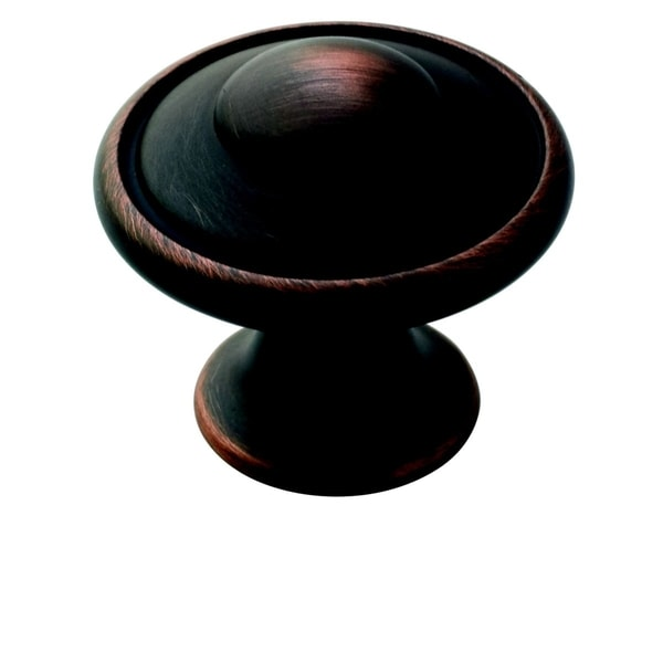 Amerock 1.19-Inch Oil Rubbed Bronze Two-ring Cabinet Knob (Pack of 10)