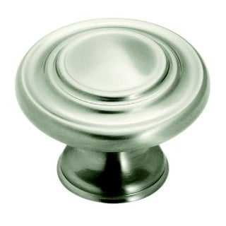 Amerock Inspirations 1.375-Inch Satin Nickel Cabinet Knob (Pack of 10)