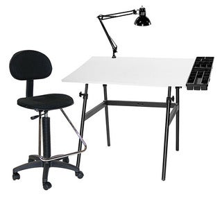 Martin Universal Design Berkeley 4-piece Table, Tray, Lamp and Draft-height Chair Combo
