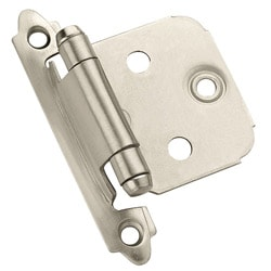 Amerock Satin Nickel Face Mount Self-closing Cabinet Hinge (Pack of 10)
