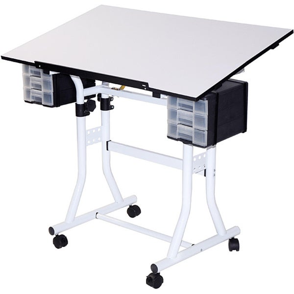 Martin Universal Design White Creation Station Deluxe Multipurpose Drafting and Hobby Craft Table