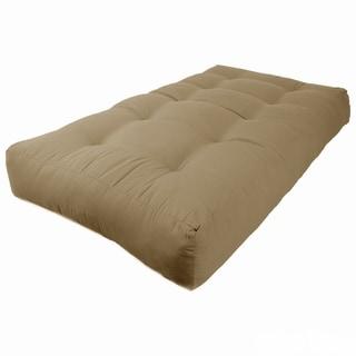 blazing needles renewal twin 10 inch twill futon mattress fabric futons for less   overstock    rh   overstock
