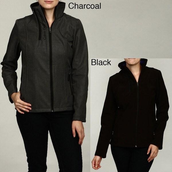 Calvin Klein Women's Double Zip Fleece Jacket FINAL SALE