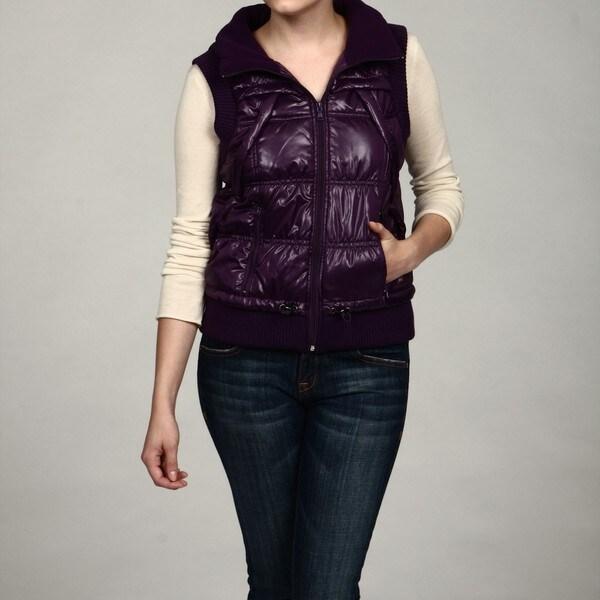 Calvin Klein Performance Women's Solid Slick Puff Vest FINAL SALE