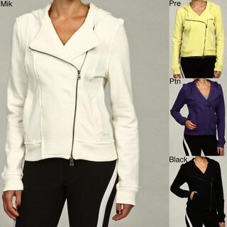 Calvin Klein Performance Women's Knit Hooded Moto Jacket