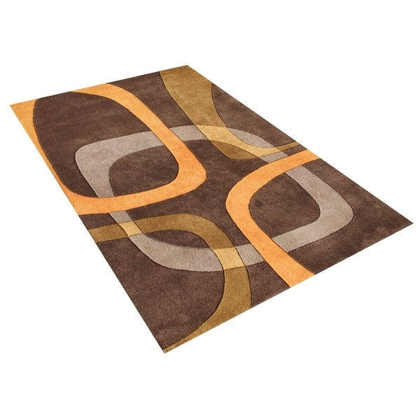 Alliyah Handmade Chocolate Brown New Zealand Blend Wool Rug - 8' x 10'