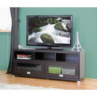 Clay Alder Home Hanalei Modern TV Stand with Glass Doors