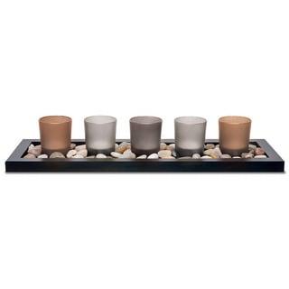 Sarah Peyton 5-piece Earth Tone Candle Tray Set