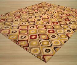 Hand-tufted Wool Contemporary  EORC Abstract Retro Chic Rug - Thumbnail 1