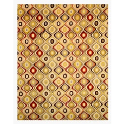 Hand-tufted Wool Contemporary EORC Abstract Retro Chic Rug