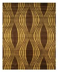 Hand-tufted Brown Waves Wool Rug (7'9 x 9'9) - 7'9 x 9'9
