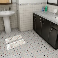 SomerTile 12x12-inch Tuscan Spiral Cascade Porcelain Mosaic Floor and Wall Tile (10 tiles/10.21 sqft.)