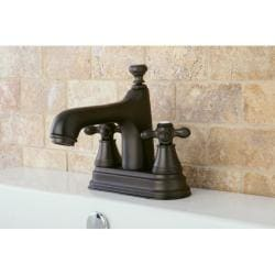 Oil Rubbed Bronze Bathroom 4-inch Centerset Faucet