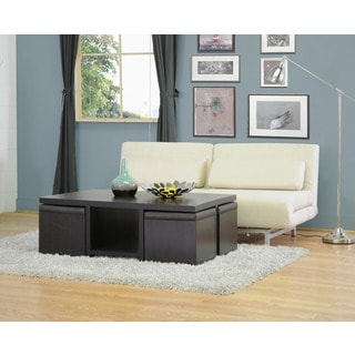 Baxton Studio Prescott Modern Table with Nesting Stool/Storage Set