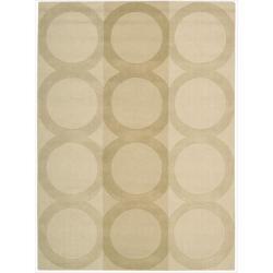 Nourison Hand-tufted Panache Beige Wool Rug (5'6 x 7'5)