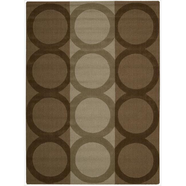Nourison Hand-tufted Panache Chocolate Wool Rug (3'6 x 5'6)