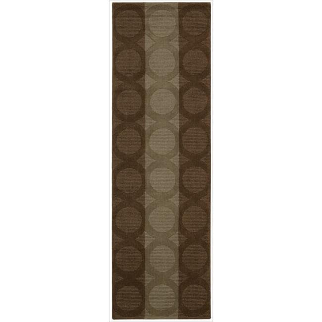 Nourison Hand-tufted Panache Chocolate Wool Rug (2'3 x 7'6)