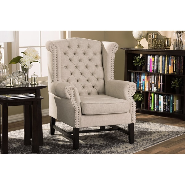 Sussex Beige Linen Club Chair (Set of 2)