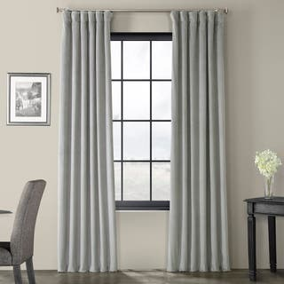 Exclusive Fabrics Signature Silver Grey Velvet Blackout Curtain Panel|https://ak1.ostkcdn.com/images/products/6162288/P13818870.jpg?impolicy=medium