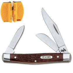 Case Cutlery Working Medium Stockman Knife and Sharpener
