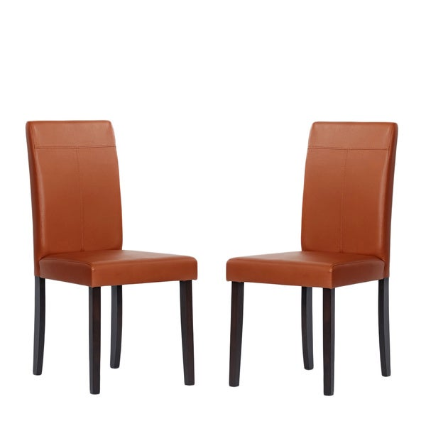 Warehouse of tiffany brown toffee dining room chairs set for Dining room furniture 0 finance