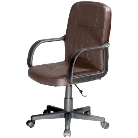 OneSpace Mid-back Leather Office Chair