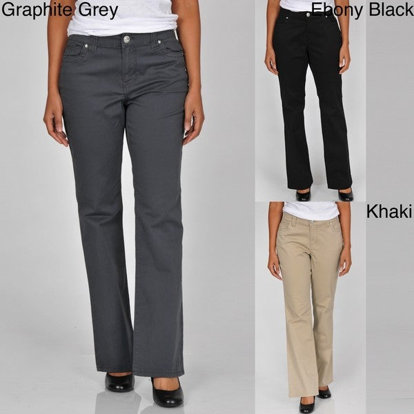 Khakis & Co Studio Women's Five Pocket Twill Stretch Pants - Free ...