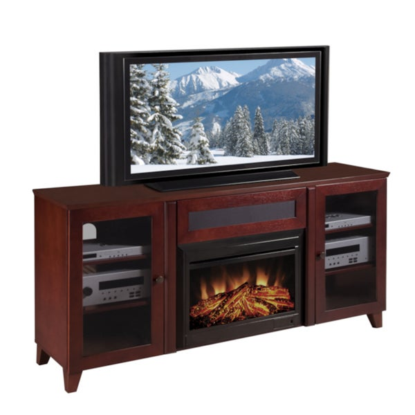 Shop Furnitech Shaker 70 Inch Dark Cherry Tv Console And