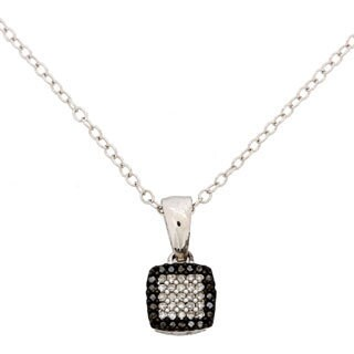 De Couer Sterling Silver 1/8ct TDW Black and White Diamond Necklace (H-I, I2)