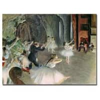 Edgar Degas 'The Rehearsal of the Ballet on Stage' Canvas