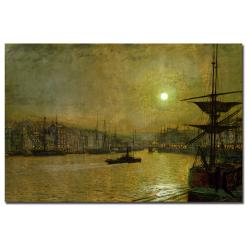 John Atkinson Grimshaw 'Whitby' Canvas Art