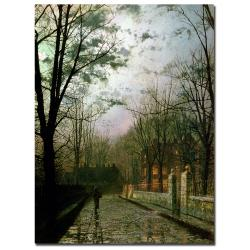 "John Atkinson Grimshaw 'After the Shower' Large Gallery-Wrapped Canvas Art (47"" x 35"")"