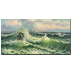 Rio 'Waves II'  Canvas Art